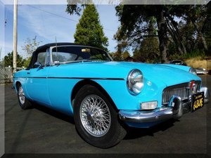 1964 MGB Roadster Convertible = clean Blue New Top $10.9k For Sale