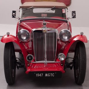 1947 MG TC Roadster = RHD Clean Red(~)Tan Driver $47.5k