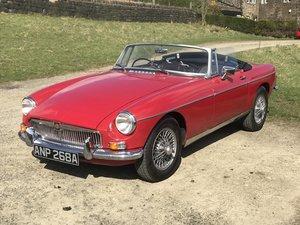 1963-MGB-Roadster-Mk1-Pull-Handle-Tartan-Red-Black For Sale