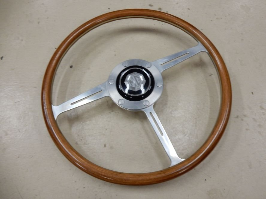 1959 Nice wooden steering wheel for MGA For Sale (picture 2 of 3)