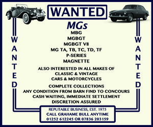 WANTED! MG Wanted