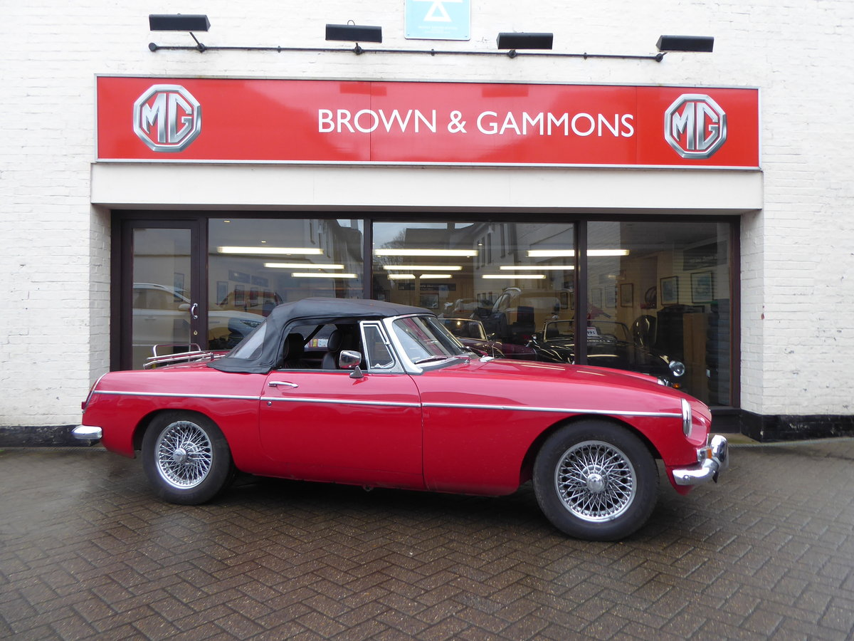 MGB ROADSTER, 1965, RED For Sale (picture 1 of 6)