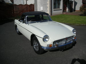 1969 MGB Roadster in Original Snowberry White SOLD