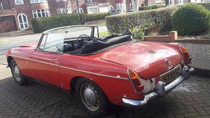 1966 MGB Roadster Mk1  Restoration Project For Sale