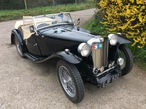 1947 MG TC  Finished in black