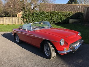 1968 Beautiful MGC Roadster in Tartan Red For Sale