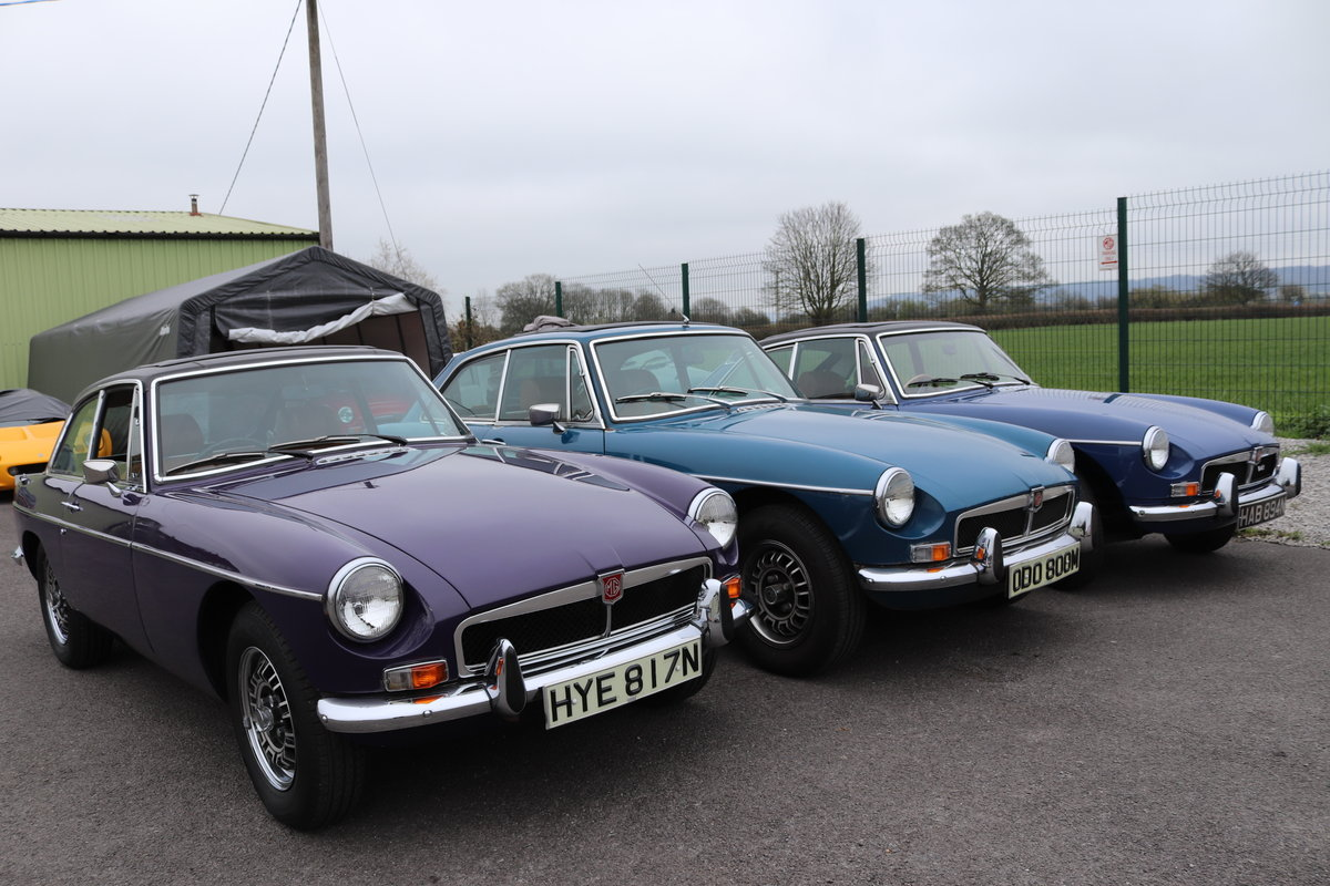 1970 11 Chrome bumpered MGB Roadsters in stock. For Sale (picture 5 of 6)