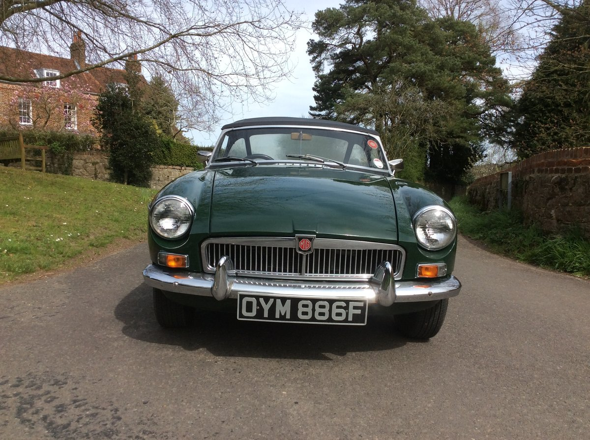 Superb Mk1 1967 MGB Roadster in  Racing Green For Sale (picture 4 of 6)