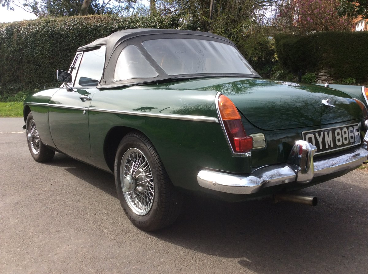 Superb Mk1 1967 MGB Roadster in  Racing Green For Sale (picture 5 of 6)