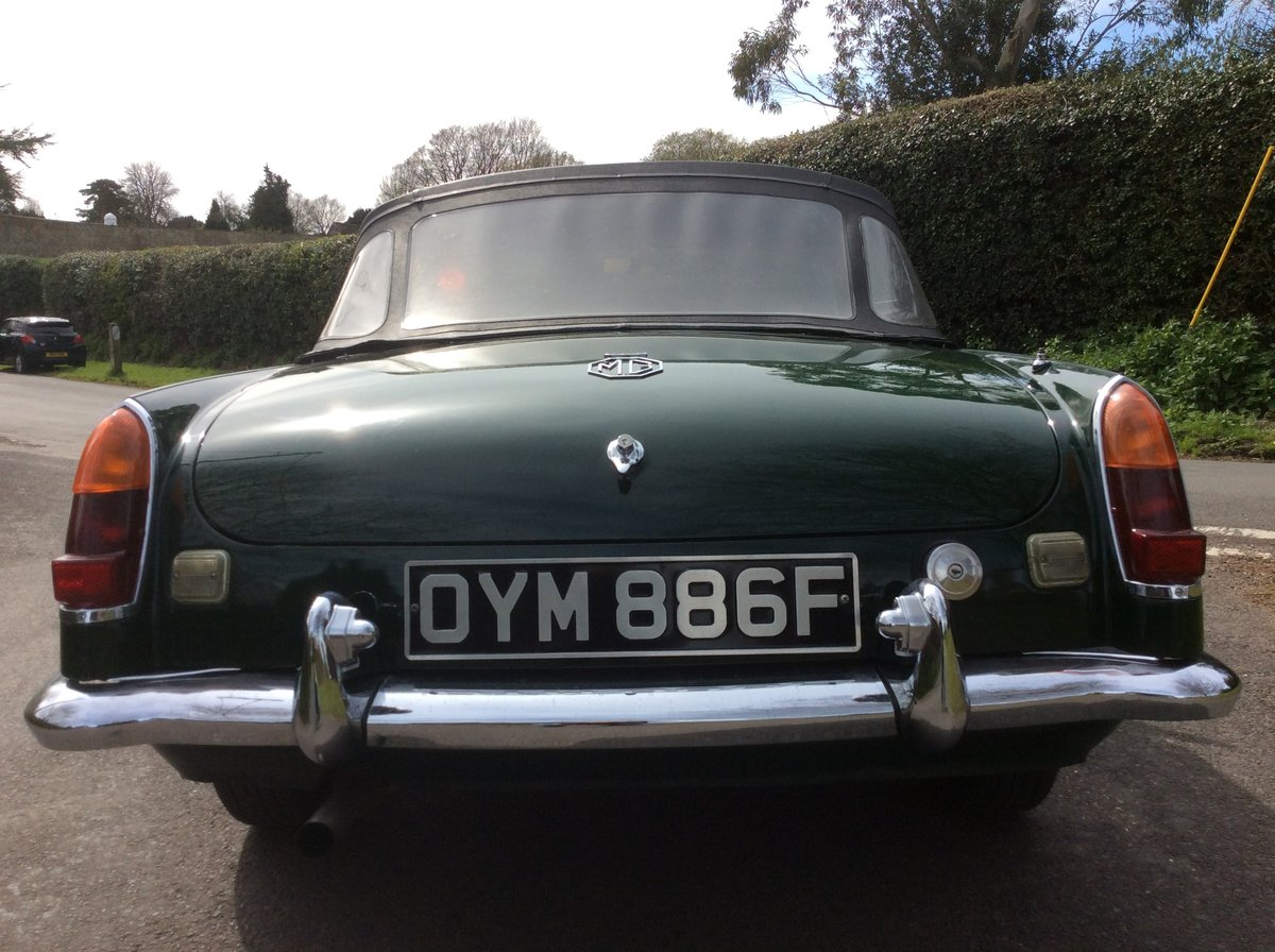 Superb Mk1 1967 MGB Roadster in  Racing Green For Sale (picture 6 of 6)