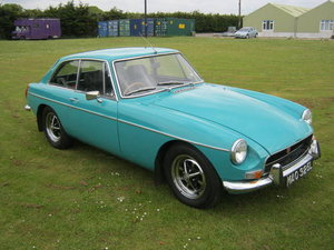 1972 MG BGT. BEAUTIFUL LOOKING CAR IN RARE 'AQUA' COLOUR.  SOLD