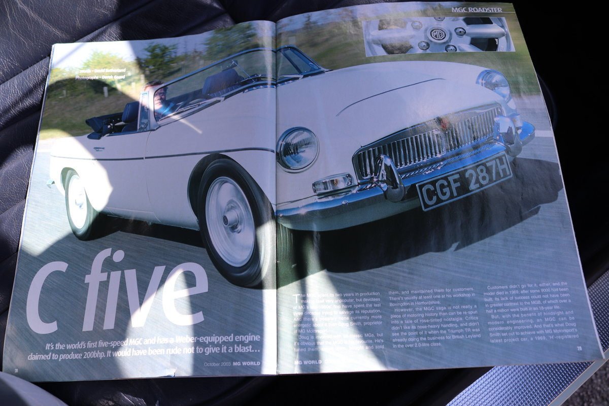 1969 MGC Roadster, 5 speed, triple webers, 200bhp SOLD (picture 4 of 6)