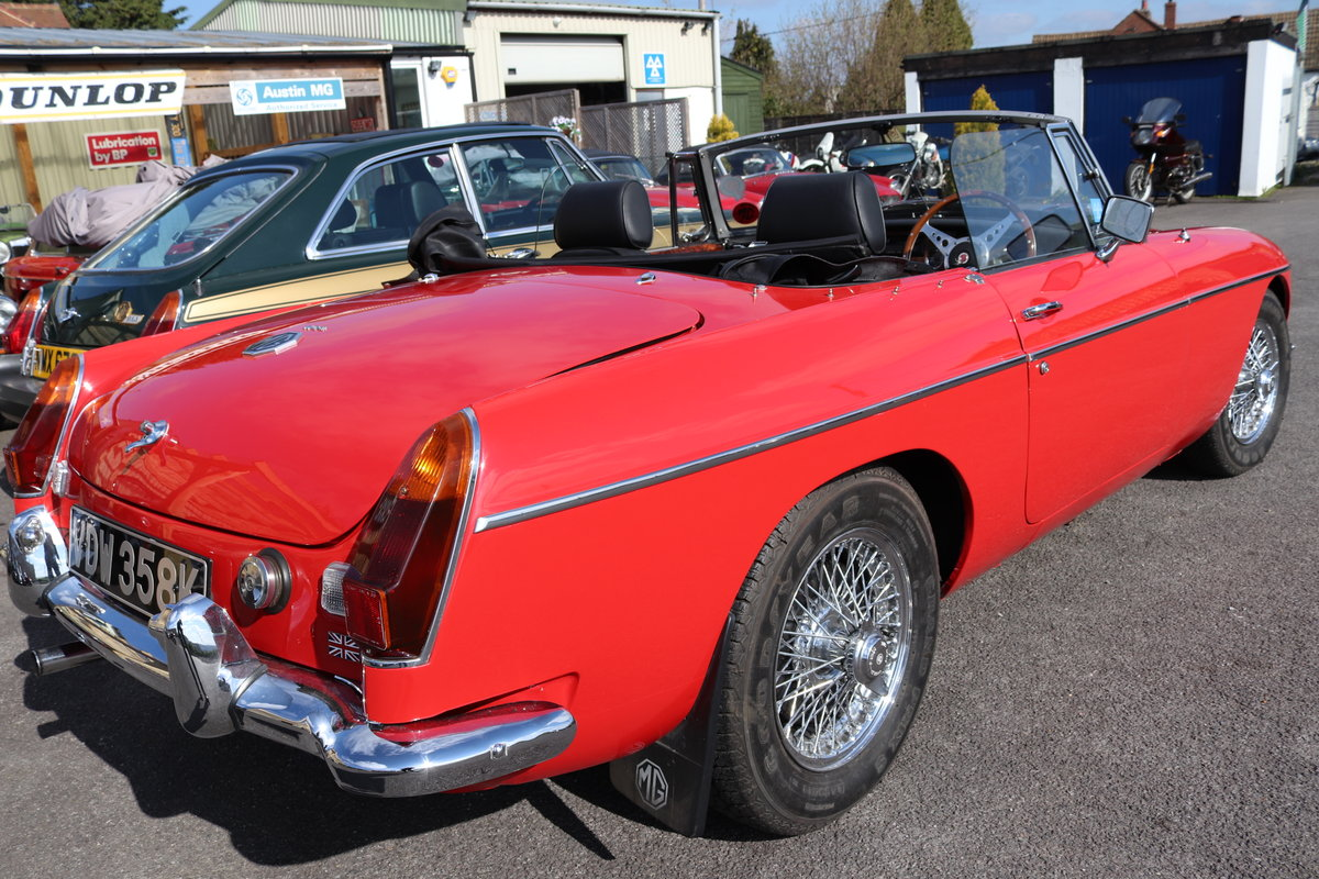 1971 MGB Roadster ,bare shell rebuild,  SOLD (picture 5 of 6)
