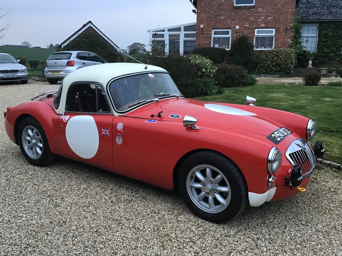 1960 MGA 1600 COUPE (1800CC) RALLY PREPARED. For Sale (picture 2 of 6)