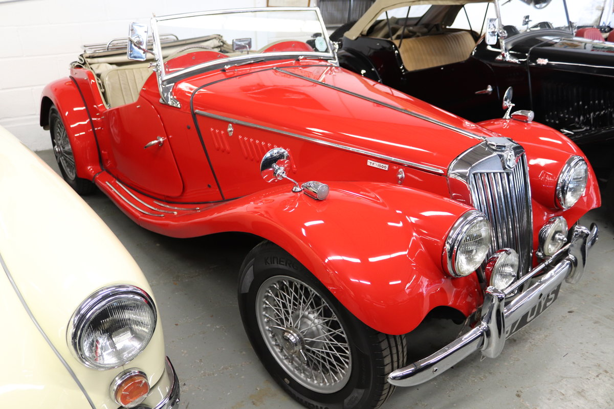 1955 MG TF 1500, original RH Drive with wires. For Sale (picture 1 of 5)