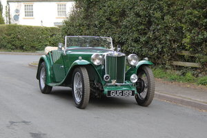 1938 MG TA Supercharged - Alloy wings, 1350cc, New frame