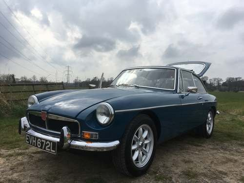 1972 MG B GT at Morris Leslie Classic Auction 25th May SOLD by Auction (picture 2 of 6)