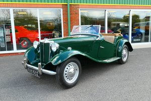 1950 MG TD Roadster RHD in Green For Sale