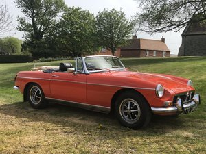 MGB Roadster-1974-original chrome bumper-low owners- SOLD