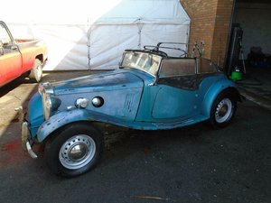 MG TD 1500 (1953) MET BLUE! 1 OWNER! LAST USED 1979! RARE! For Sale