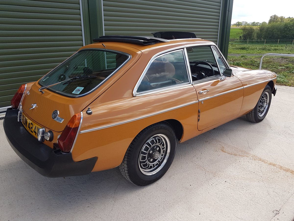 1975 MG MGB GT V8 Low Mileage, Beautiful original condition For Sale (picture 2 of 6)