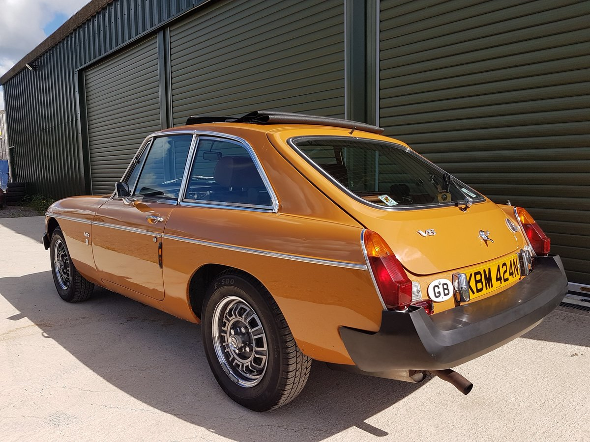 1975 MG MGB GT V8 Low Mileage, Beautiful original condition For Sale (picture 3 of 6)