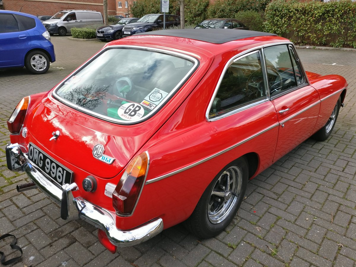 1973 MG MGB GT, chrome, overdrive, lots of spares For Sale (picture 2 of 6)