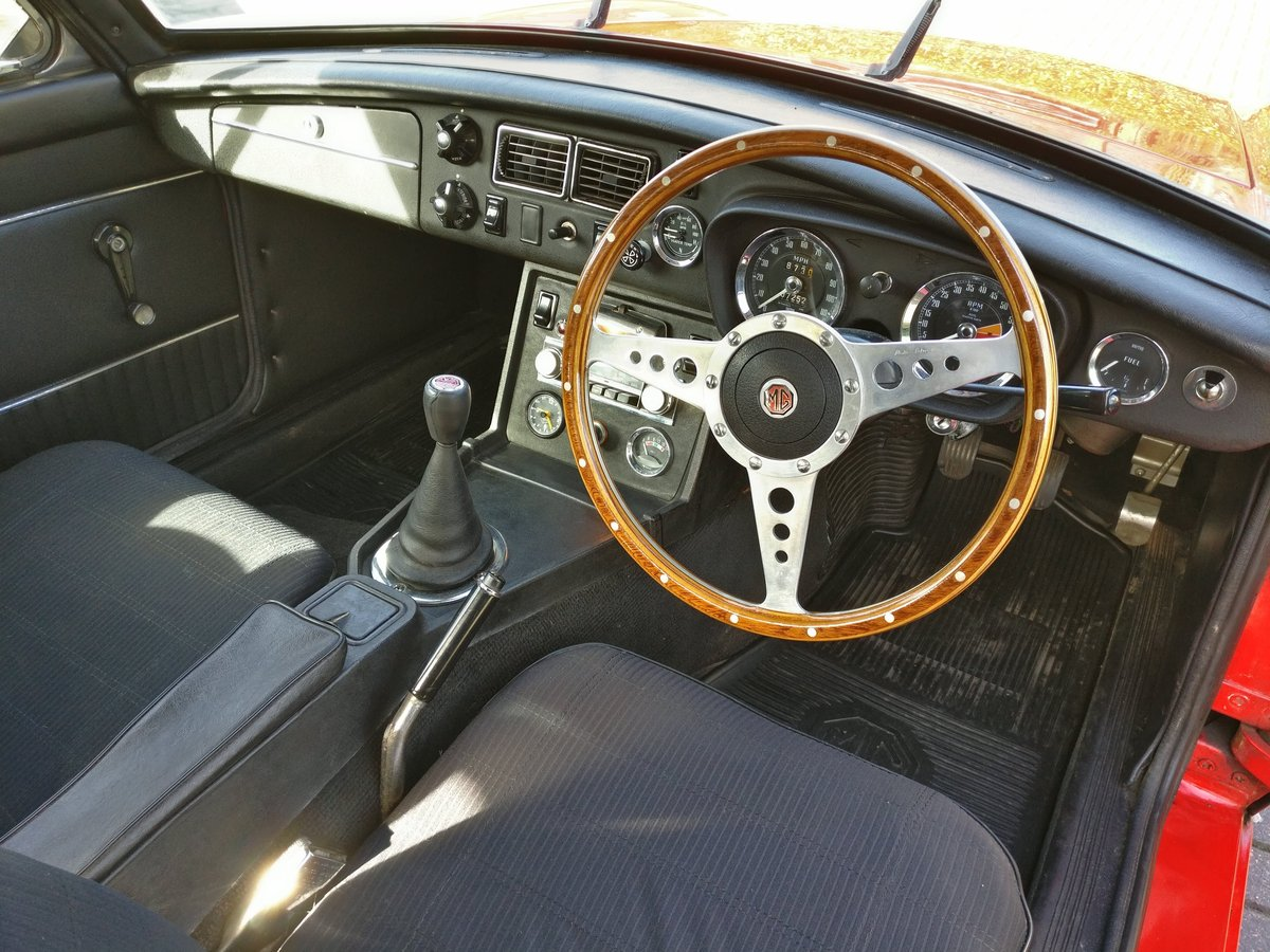 1973 MG MGB GT, chrome, overdrive, lots of spares For Sale (picture 5 of 6)