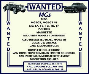 WANTED! MG Wanted