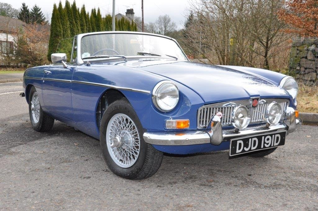 1966 Blue MGB roadster For Sale (picture 1 of 6)
