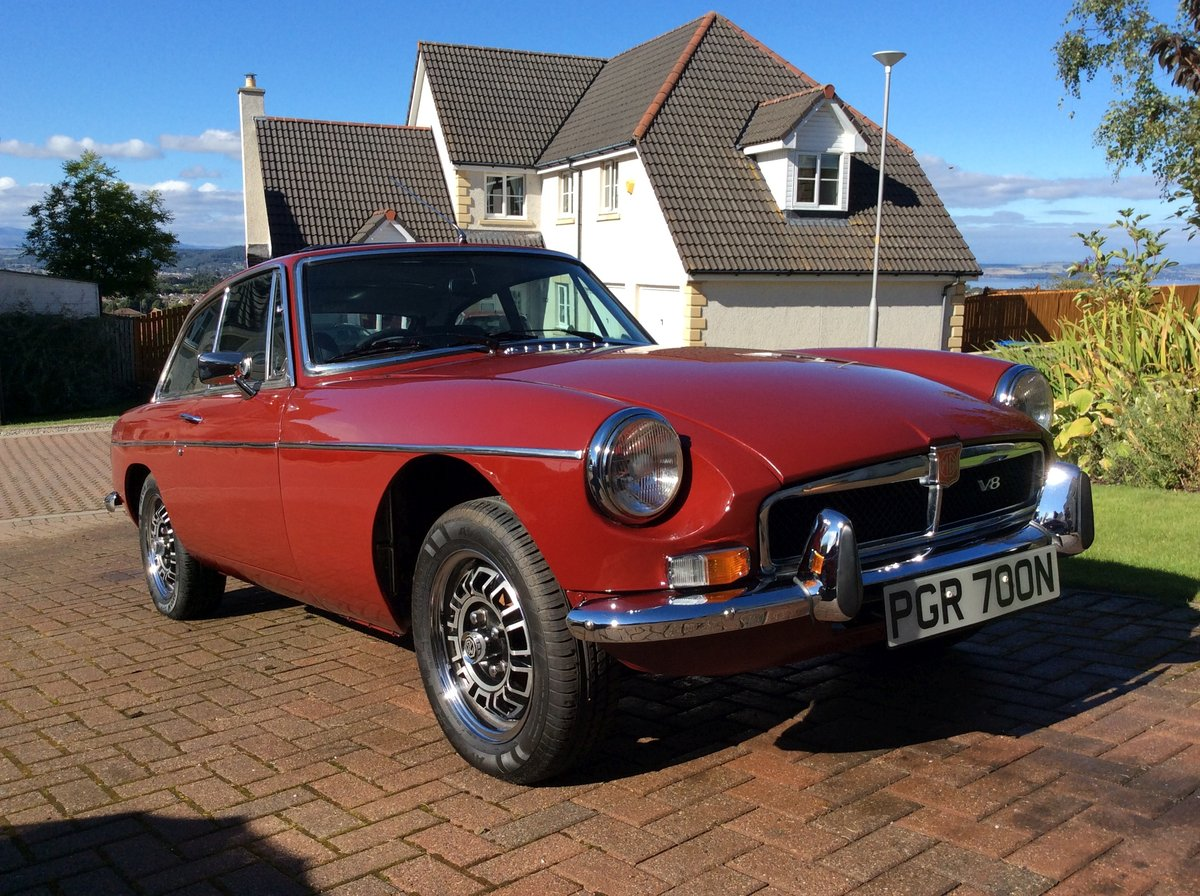 1974 MGB GT V8 Factory Chrome Bumper Car For Sale (picture 1 of 6)