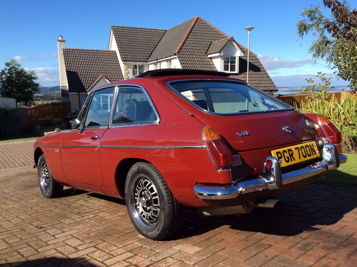 1974 MGB GT V8 Factory Chrome Bumper Car For Sale (picture 2 of 6)