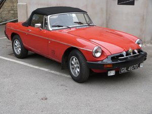 1976 MGB Roadster with Oselli tuned engine For Sale by Auction