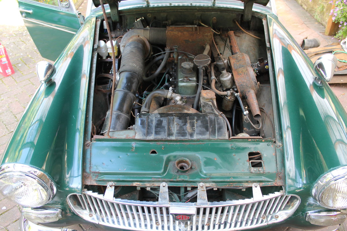 1968 mg midget , wire wheels , for restoration For Sale (picture 4 of 6)