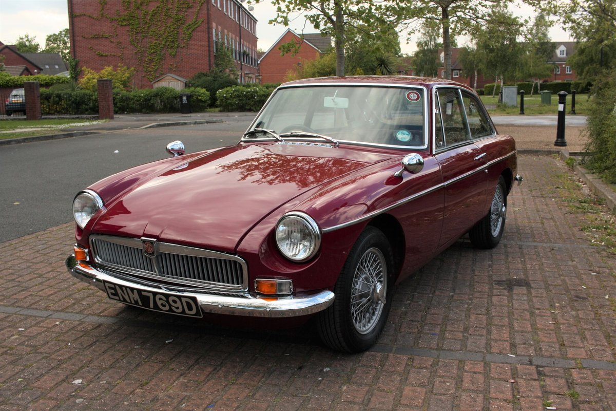 1966 MGB GT Mk1 - Maroon, wire wheels - Running Restoration SOLD (picture 1 of 6)
