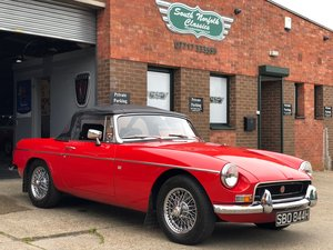 1970 MGB Roadster with power steering and wires For Sale