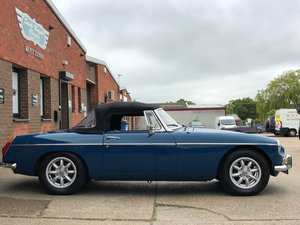 1973 MGB Roadster, Teal Blue, overdrive, mohair hood For Sale