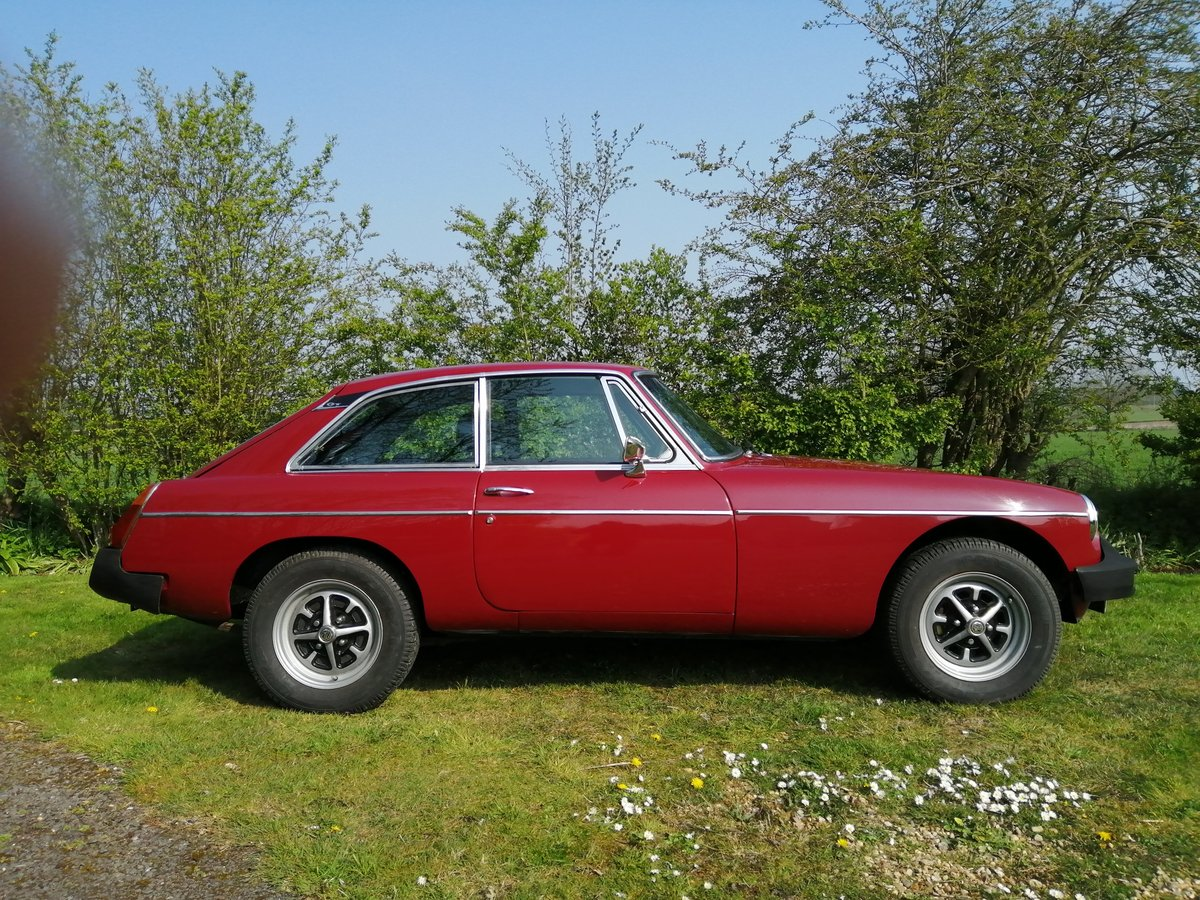 1978 MGB GT in CARMINE RED with OVERDRIVE For Sale (picture 1 of 6)