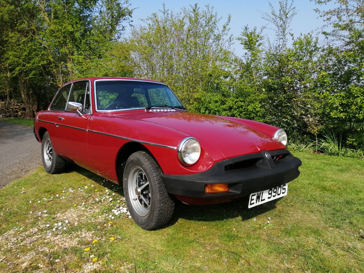 1978 MGB GT in CARMINE RED with OVERDRIVE For Sale (picture 3 of 6)