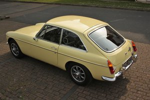 1968 Mk2 MGB GT -Primrose Yellow, Older Resto - MGBGT MG BGT SOLD