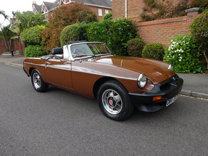 MG B ROADSTER 1980 37,000 miles only SOLD