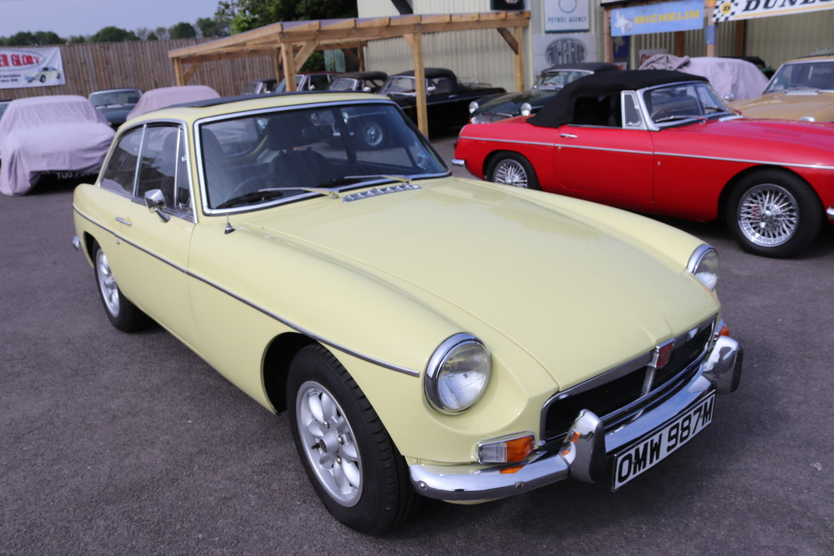 1973 MGB GT in Primrose with full sunroof SOLD (picture 1 of 6)