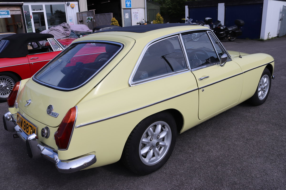 1973 MGB GT in Primrose with full sunroof SOLD (picture 6 of 6)