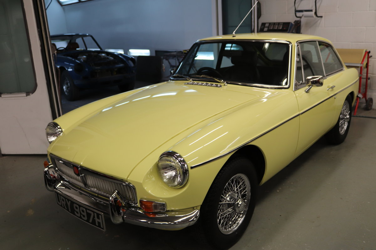 1970 MGB GT in Primrose, Show standard rebuild SOLD (picture 1 of 6)