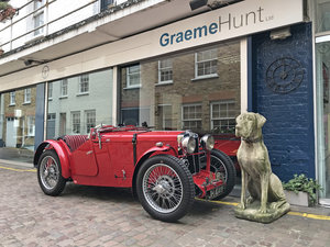 Picture of 1933 MG J2 with period competition history SOLD