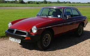 1981 Professionally Recommissioned Low Mileage MGB GT SOLD