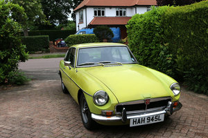 MGBGT 1972 Citron Coachwork, Black Leather, Needs Restoratio For Sale
