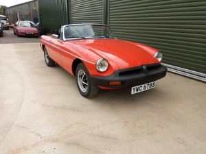 1978 MGB Roadster lovely condition, history, low mileage SOLD