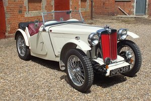 1938 A super aluminium bodied car in the style of a Cream Cracker For Sale