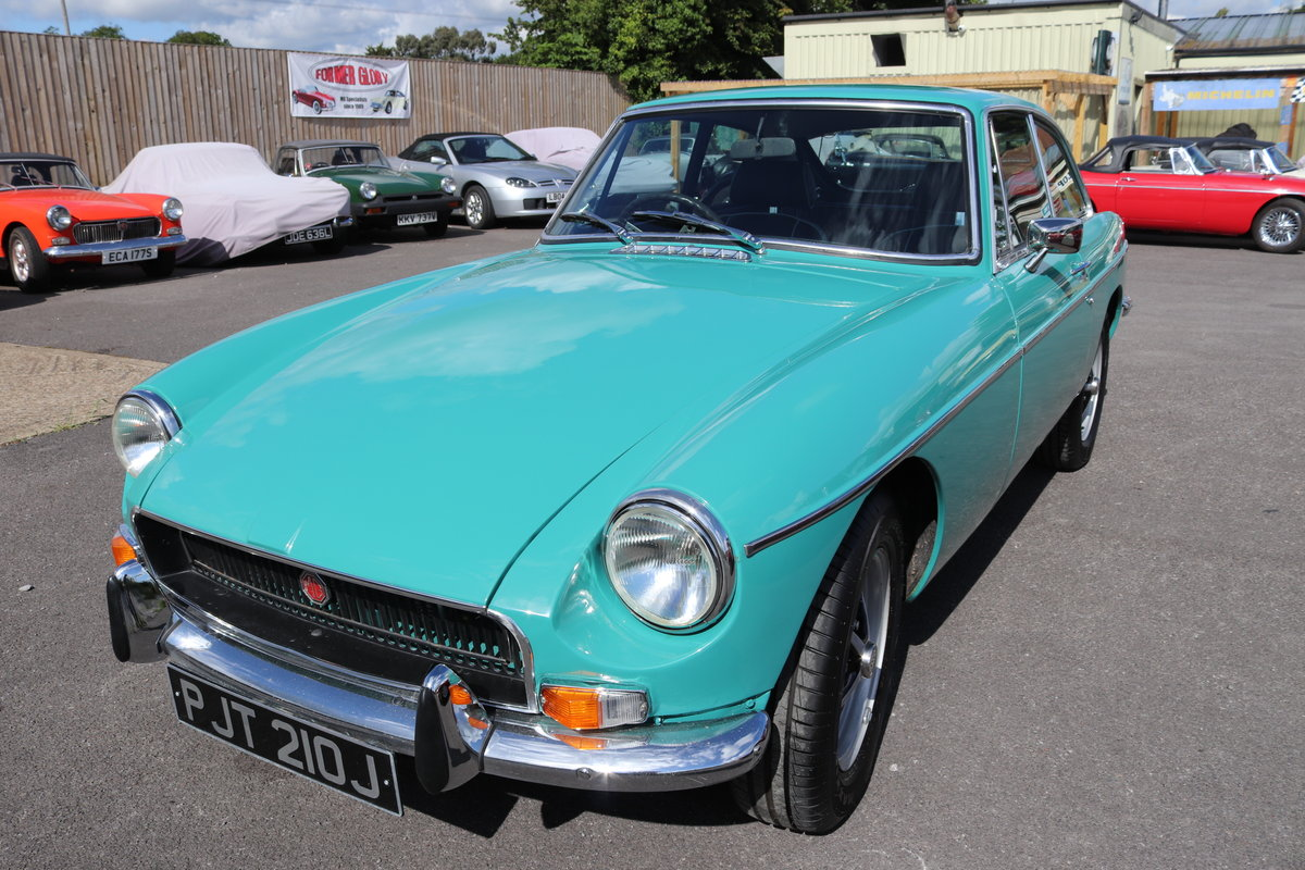 1970 MGB GT Automatic, Aqua,Fully rebuilt SOLD (picture 1 of 5)